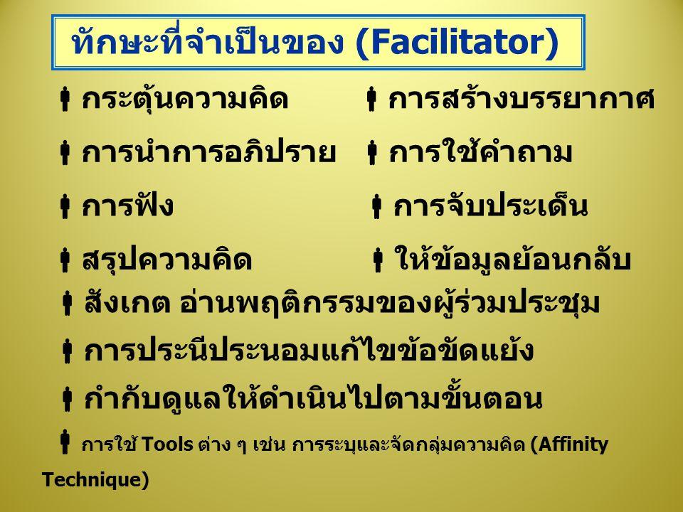 ทักษะที่จำเป็นของ (Facilitator)