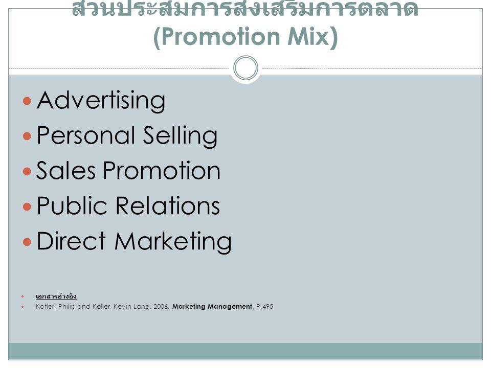ส่วนประสมการส่งเสริมการตลาด (Promotion Mix)