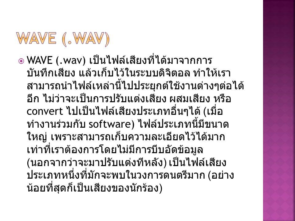 WAVE (.wav)