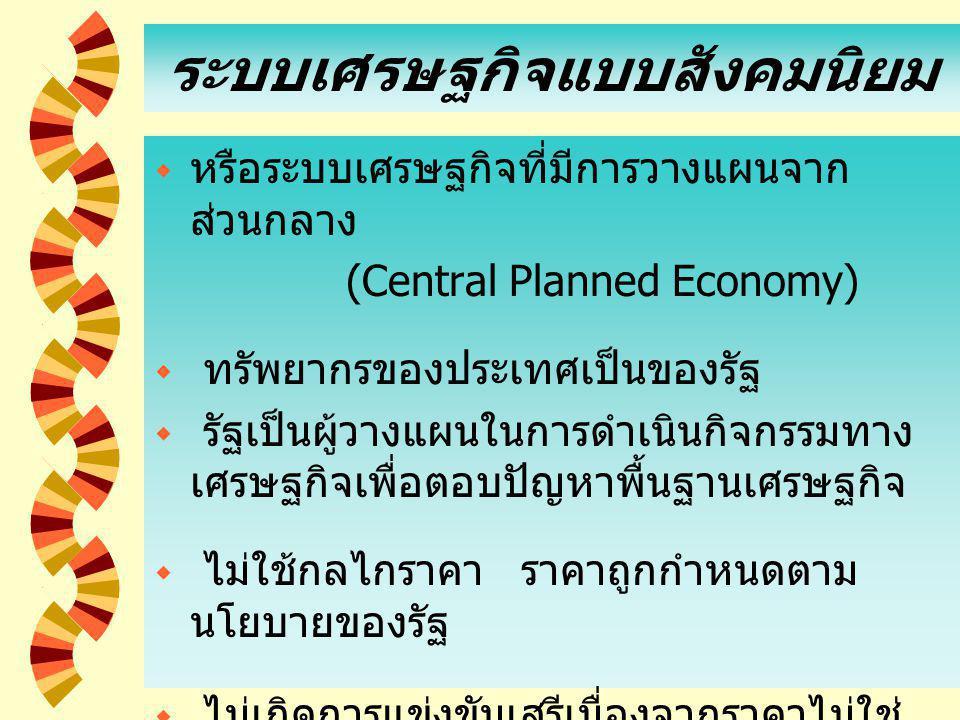 ระบบเศรษฐกิจแบบสังคมนิยม