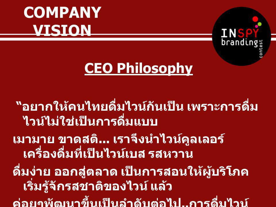COMPANY VISION CEO Philosophy
