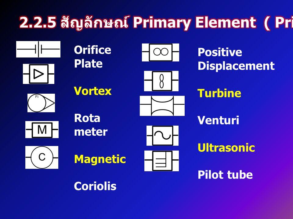 2.2.5 สัญลักษณ์ Primary Element ( Primary Element symbol )