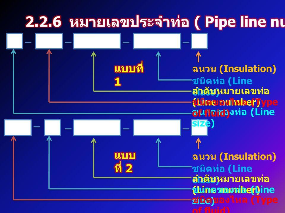 2.2.6 หมายเลขประจำท่อ ( Pipe line number )