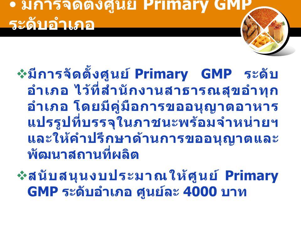 มีการจัดตั้งศูนย์ Primary GMP ระดับอำเภอ