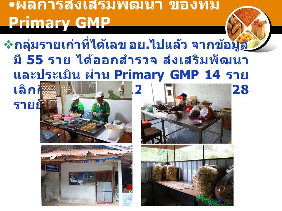 ผลการส่งเสริมพัฒนา ของทีม Primary GMP