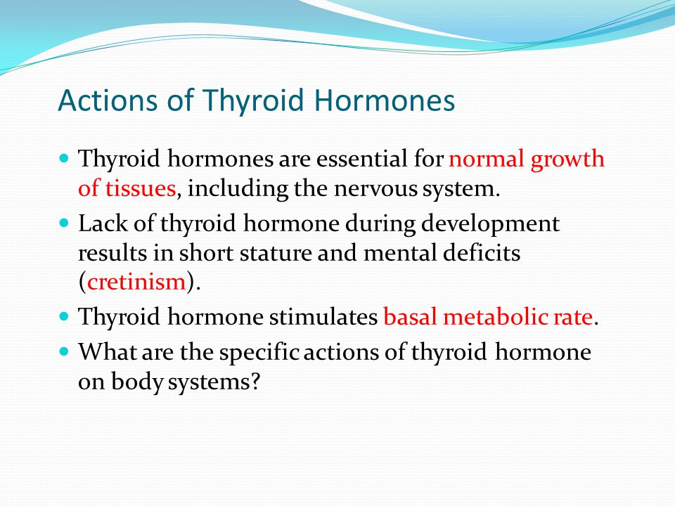 Actions of Thyroid Hormones