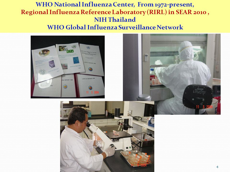 WHO National Influenza Center, From 1972-present,
