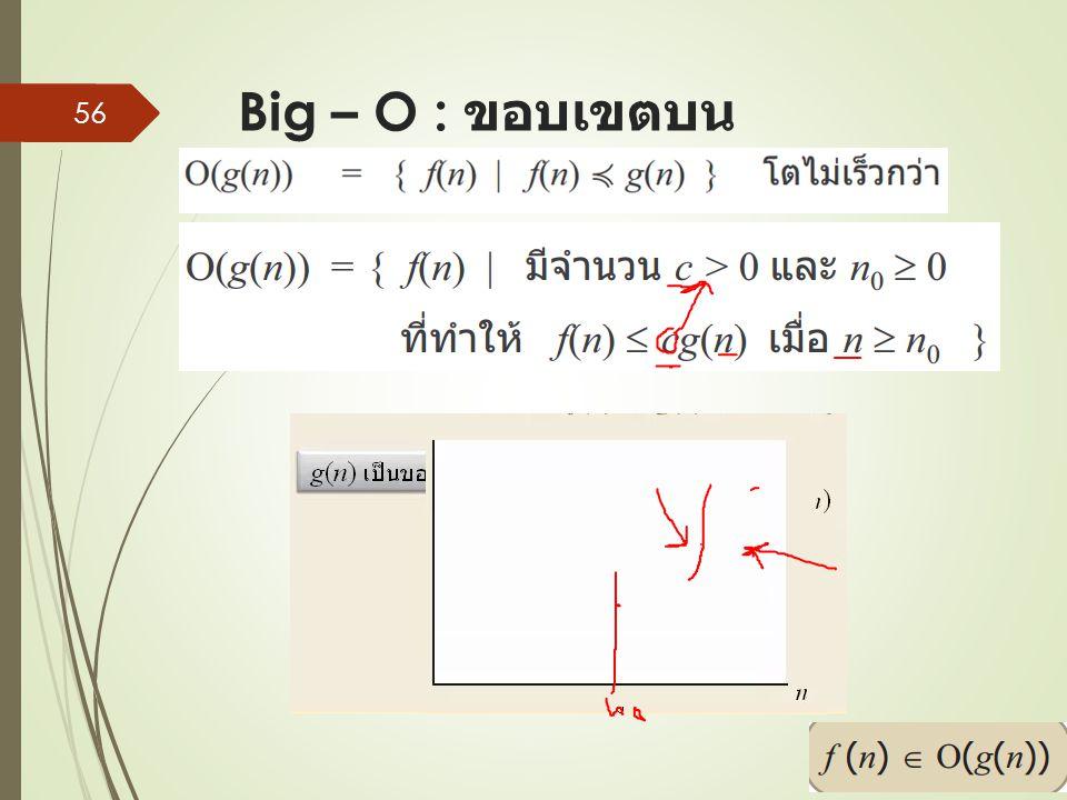 Big – O : ขอบเขตบน