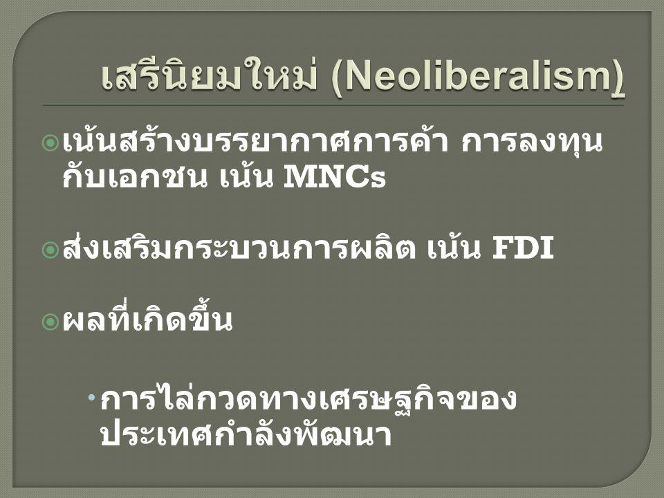 เสรีนิยมใหม่ (Neoliberalism)