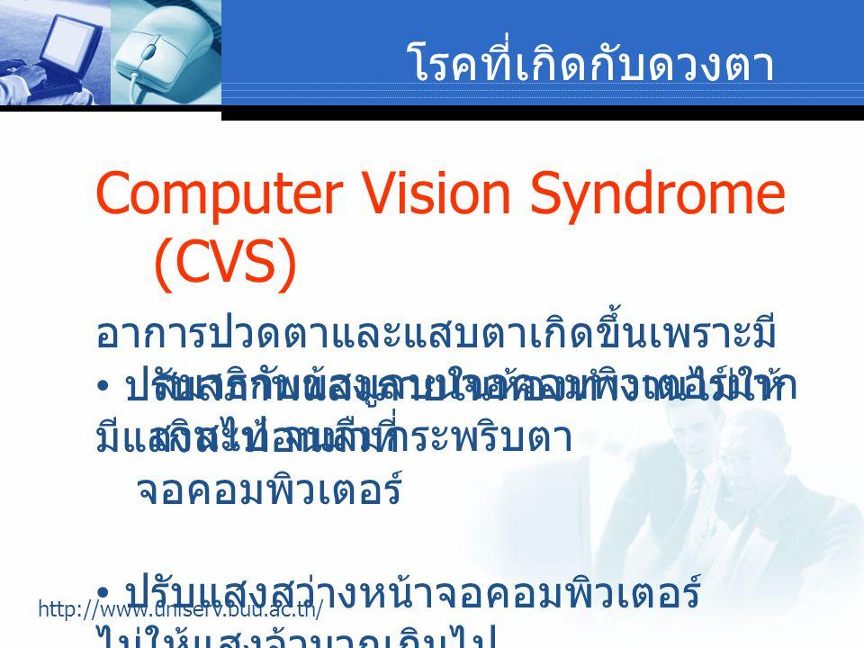 Computer Vision Syndrome (CVS)