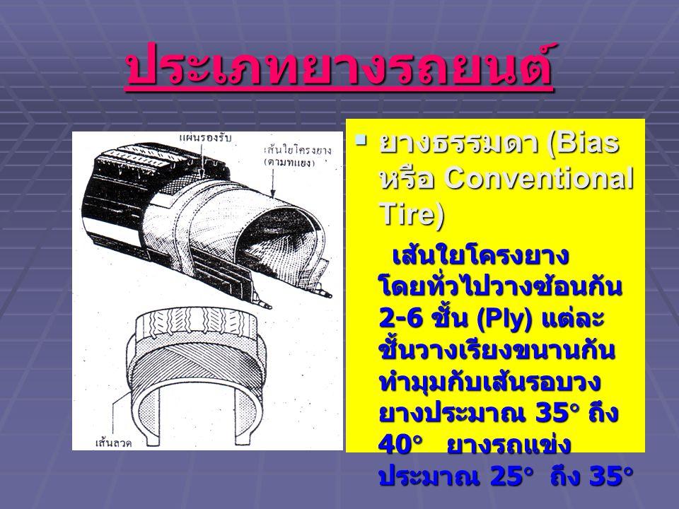 ประเภทยางรถยนต์ ยางธรรมดา (Bias หรือ Conventional Tire)