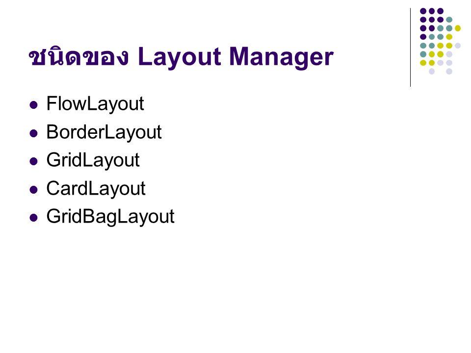 ชนิดของ Layout Manager