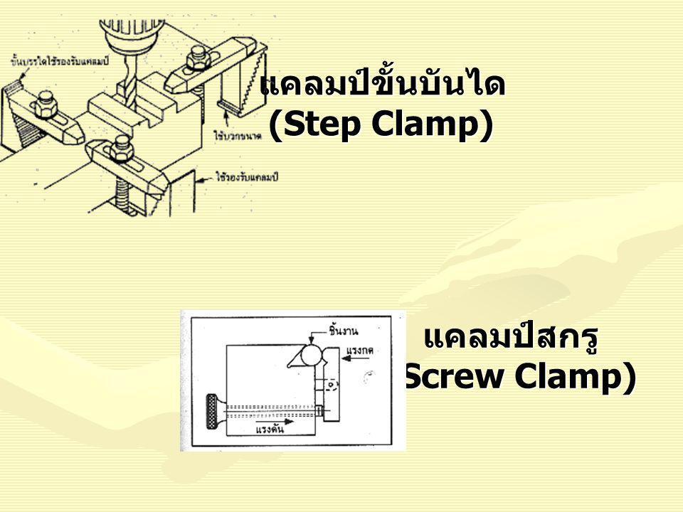 แคลมป์ขั้นบันได (Step Clamp) แคลมป์สกรู (Screw Clamp)