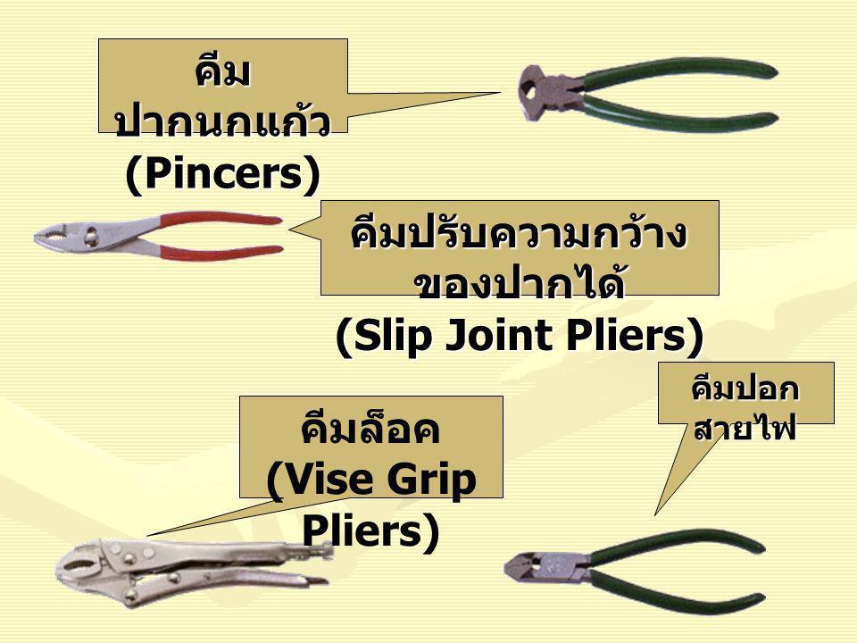 คีมปากนกแก้ว (Pincers)