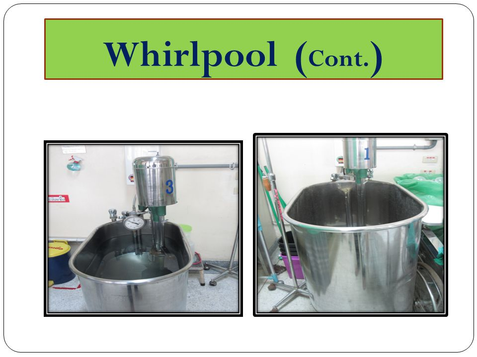 Whirlpool (Cont.)