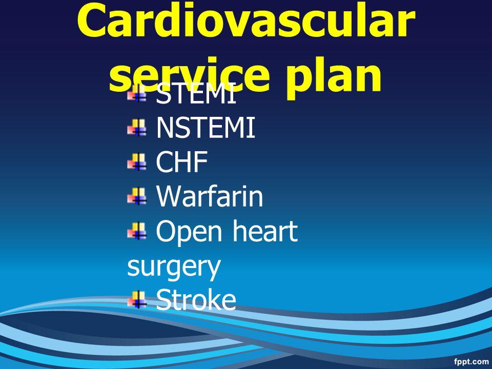 Cardiovascular service plan
