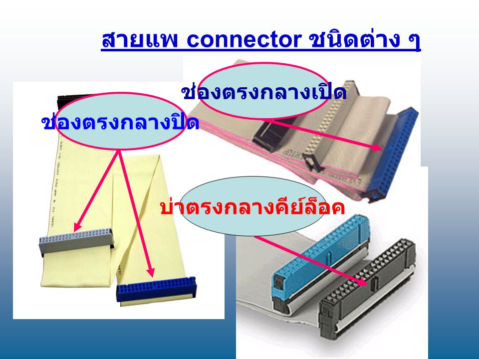 สายแพ connector ชนิดต่าง ๆ