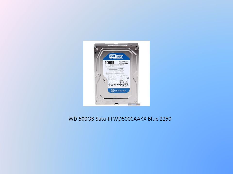 WD 500GB Sata-III WD5000AAKX Blue 2250