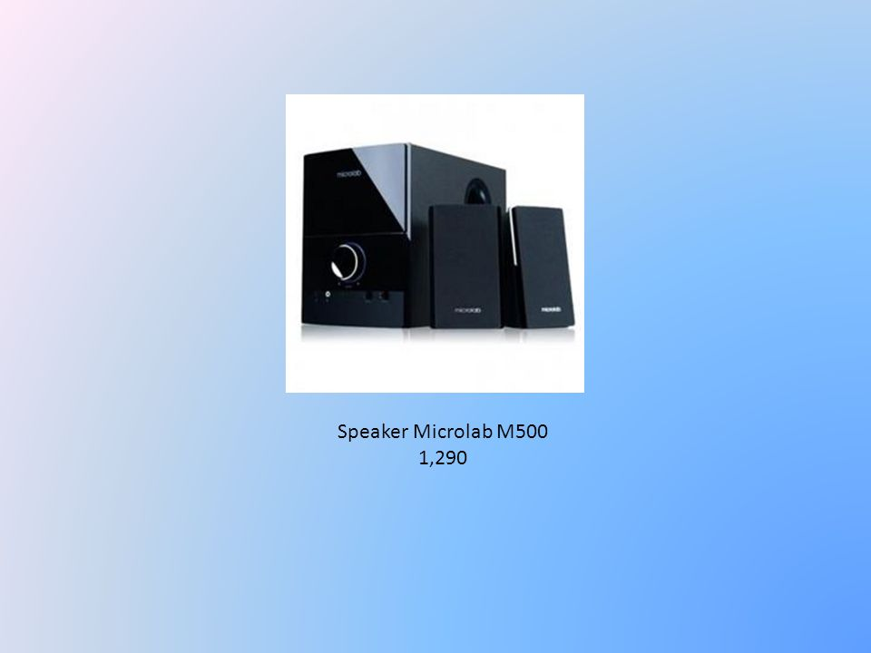 Speaker Microlab M500 1,290