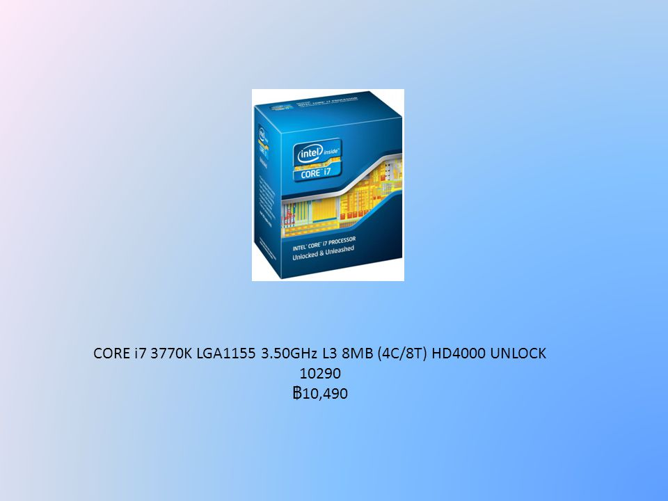 CORE i7 3770K LGA1155 3.50GHz L3 8MB (4C/8T) HD4000 UNLOCK 10290