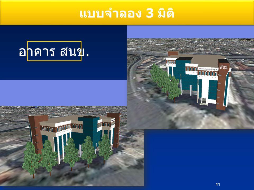 แบบจำลอง 3 มิติ อาคาร สนข. 41