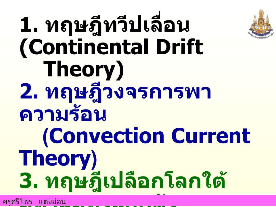1. ทฤษฎีทวีปเลื่อน(Continental Drift Theory)