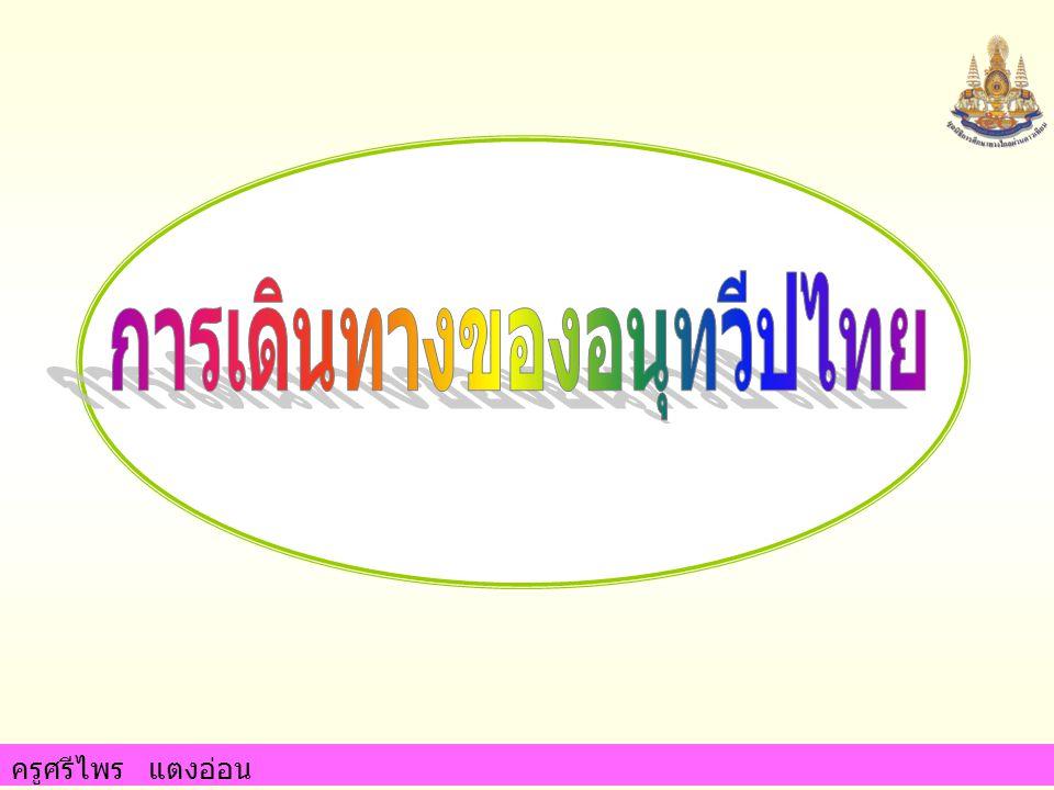 การเดินทางของอนุทวีปไทย
