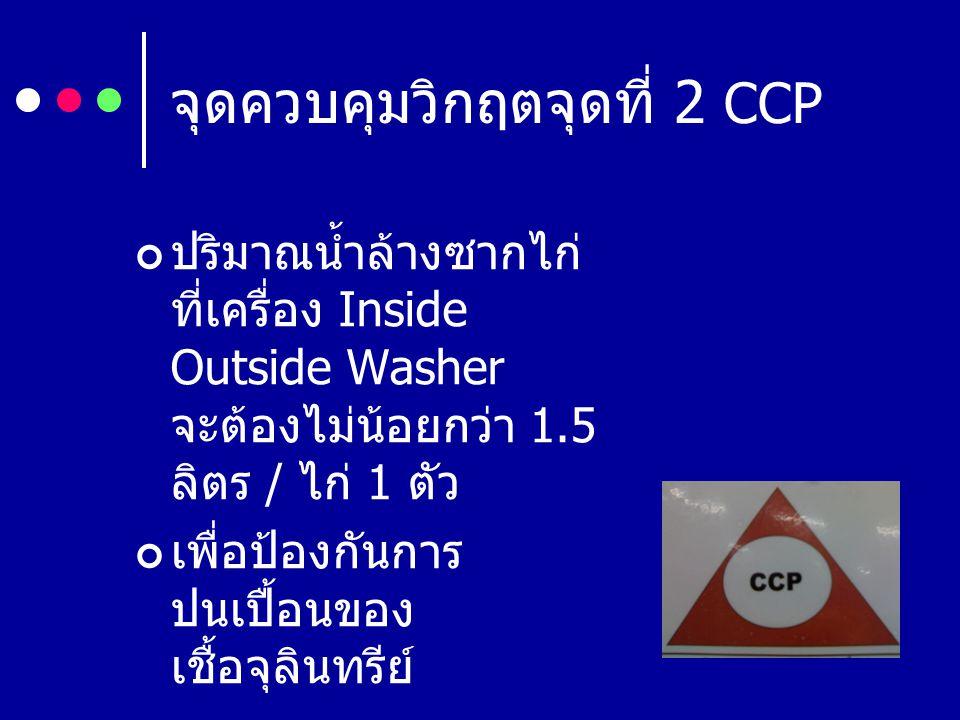 จุดควบคุมวิกฤตจุดที่ 2 CCP
