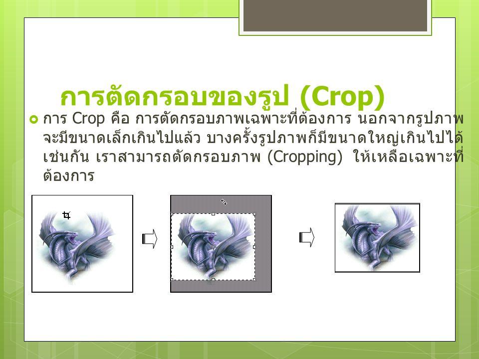 การตัดกรอบของรูป (Crop)