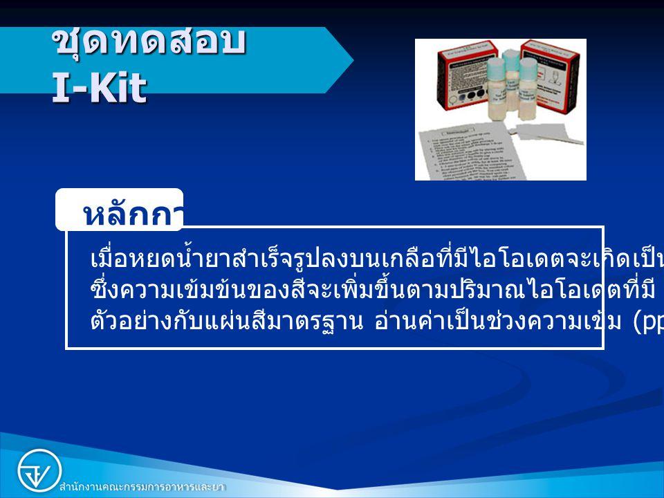 ชุดทดสอบ I-Kit หลักการ