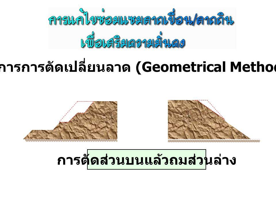 1. วิธีการการตัดเปลี่ยนลาด (Geometrical Methods)