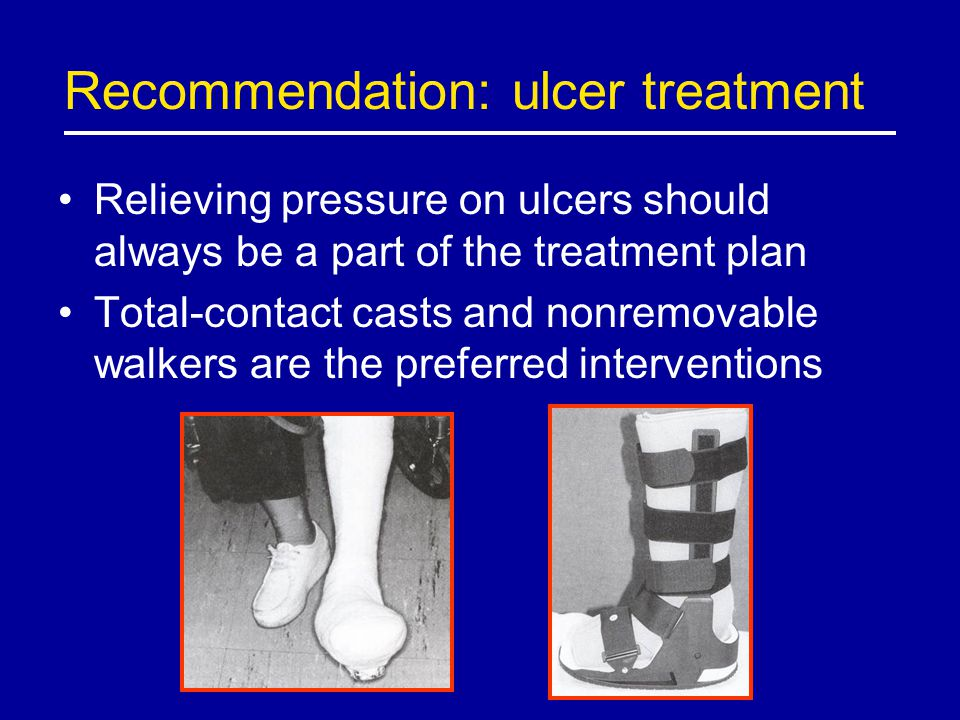 Recommendation: ulcer treatment