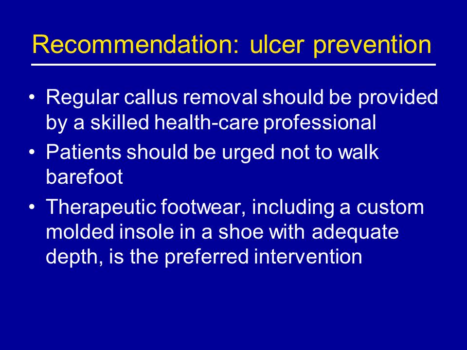 Recommendation: ulcer prevention