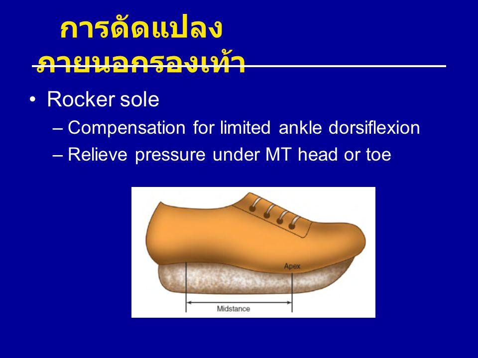 การดัดแปลงภายนอกรองเท้า
