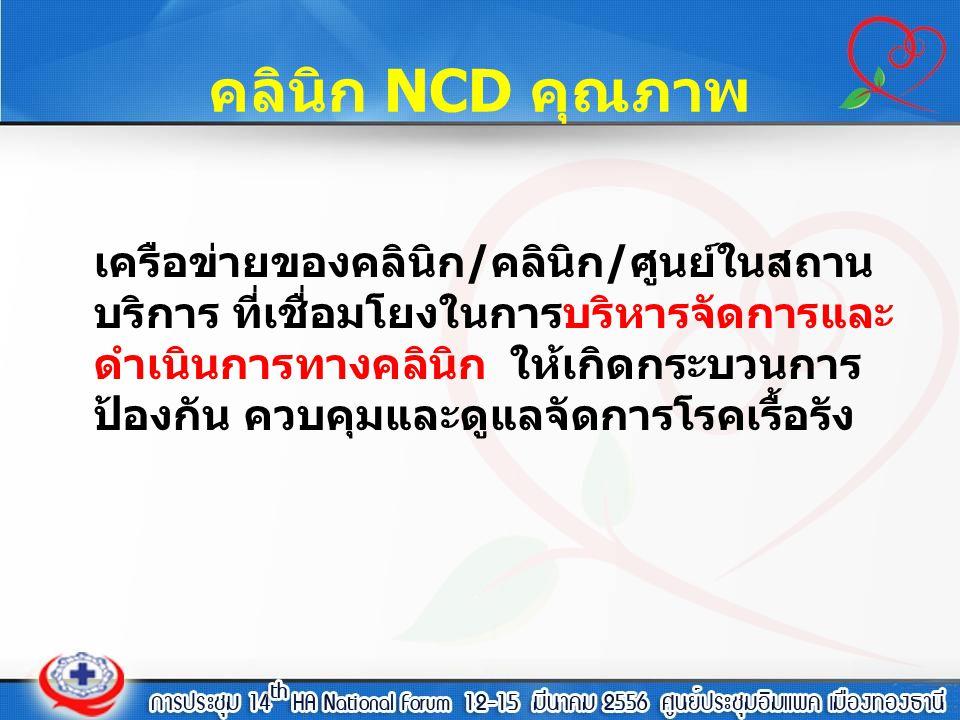 คลินิก NCD คุณภาพ