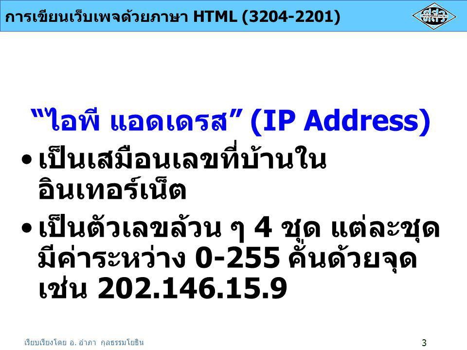 ไอพี แอดเดรส (IP Address)