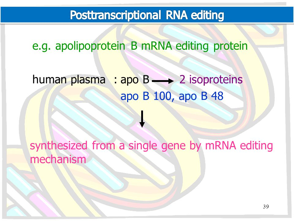 Posttranscriptional RNA editing