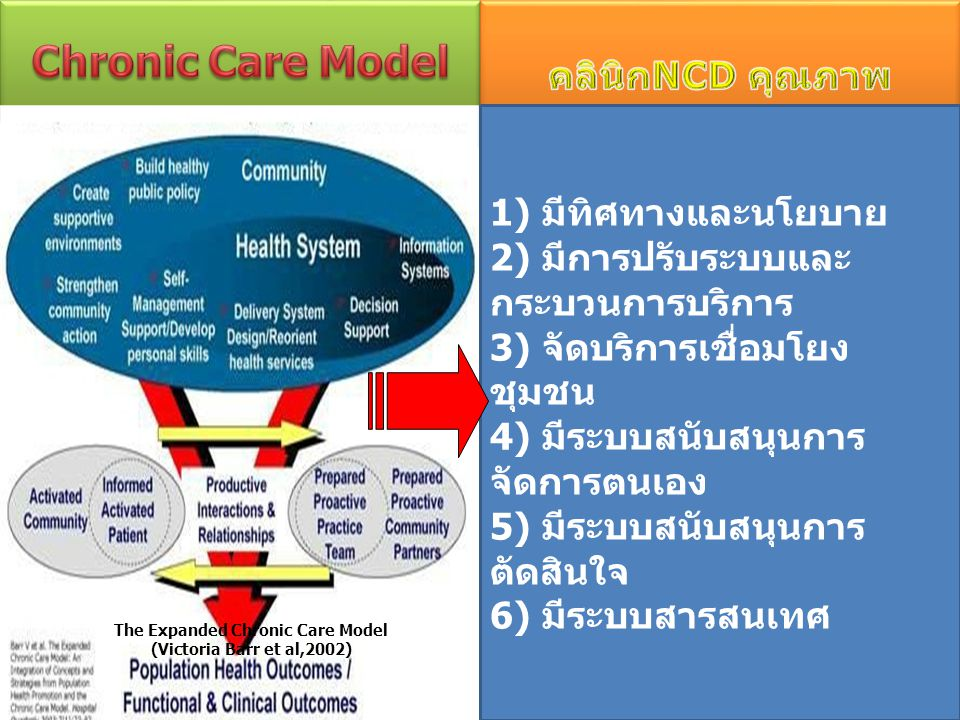 The Expanded Chronic Care Model (Victoria Barr et al,2002)