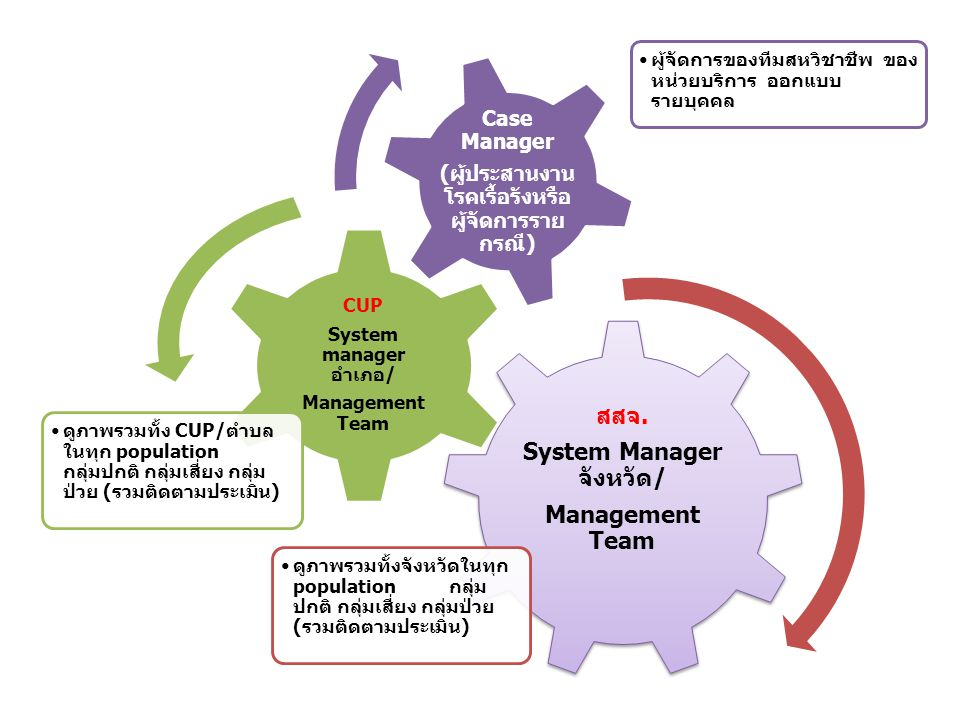 System Manager จังหวัด/ (ผู้ประสานงานโรคเรื้อรังหรือผู้จัดการรายกรณี)