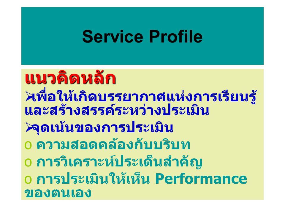 Service Profile แนวคิดหลัก