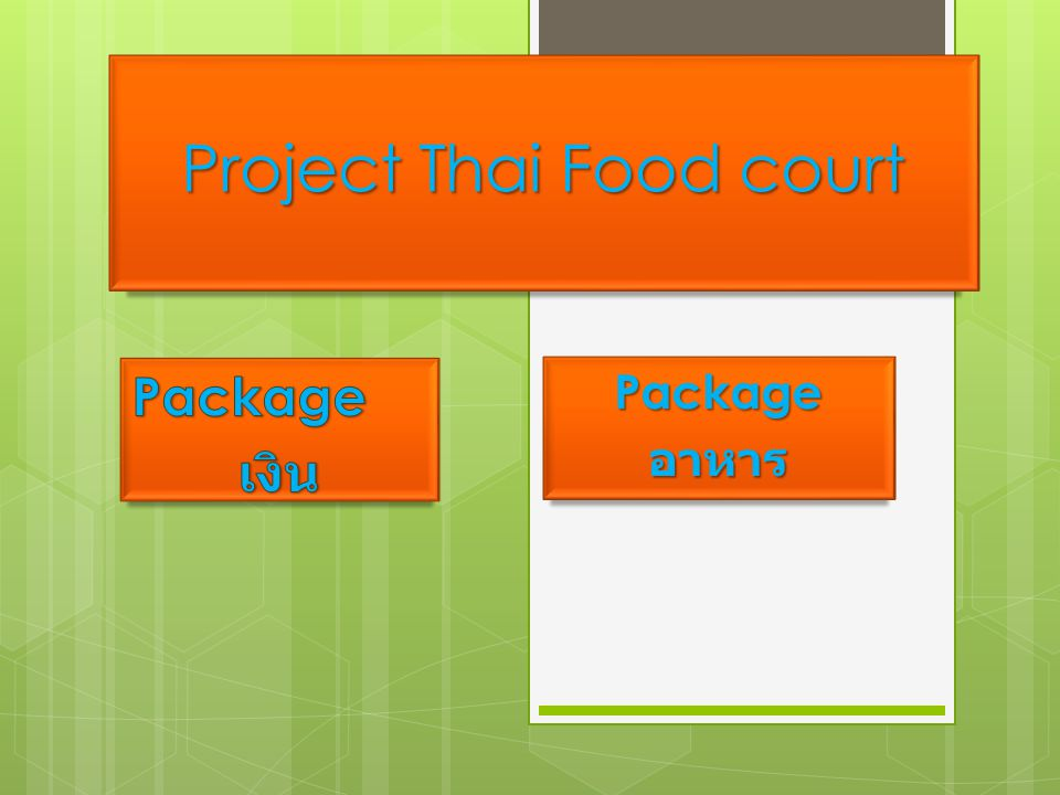Project Thai Food court