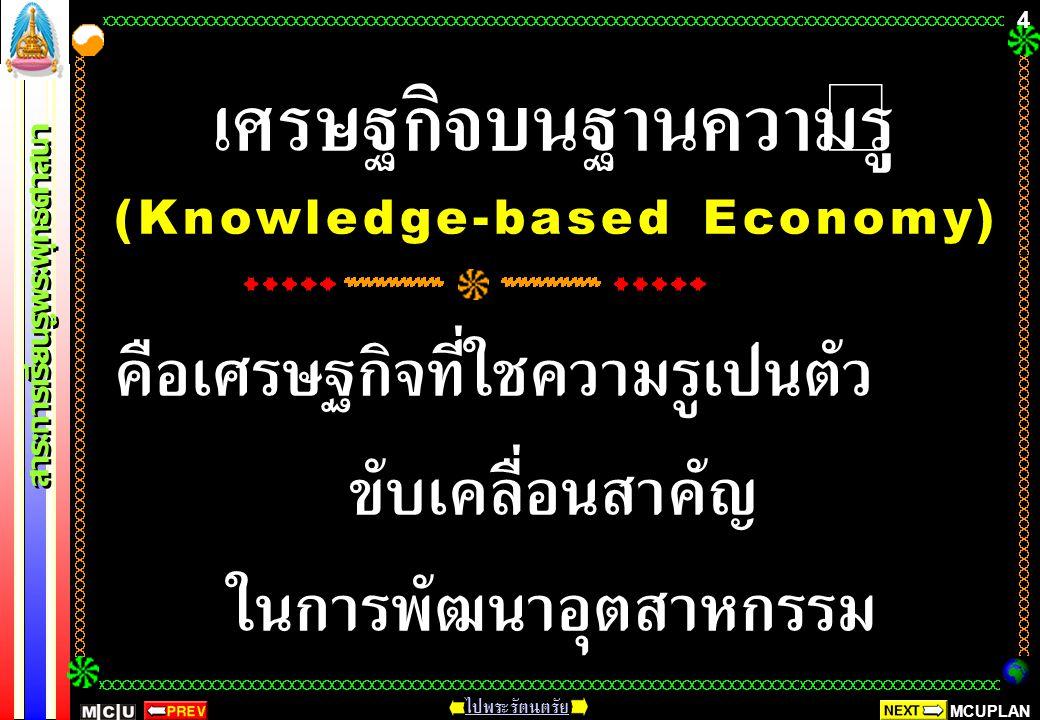 เศรษฐกิจบนฐานความรู้ (Knowledge-based Economy) คือเศรษฐกิจที่ใช้ความรู้เป็นตัวขับเคลื่อนสำคัญ ในการพัฒนาอุตสาหกรรม