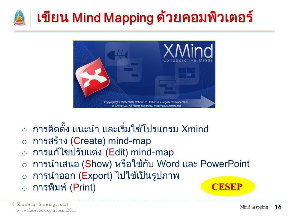 เขียน Mind Mapping ด้วยคอมพิวเตอร์