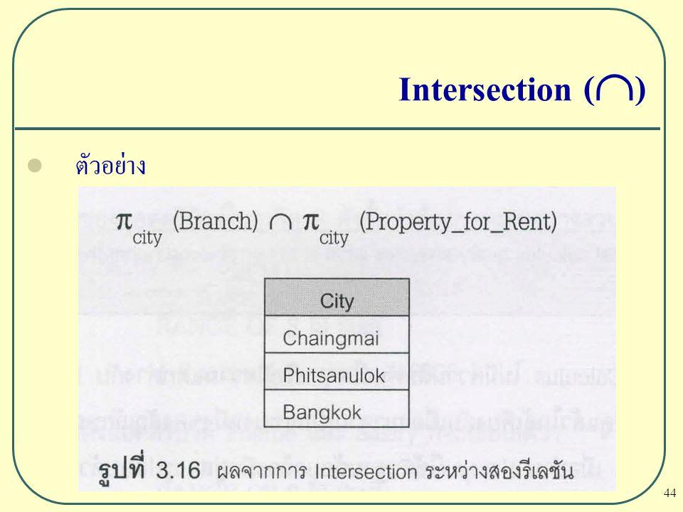 Intersection () ตัวอย่าง