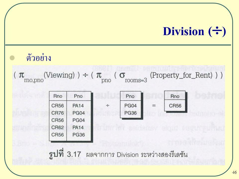 Division () ตัวอย่าง