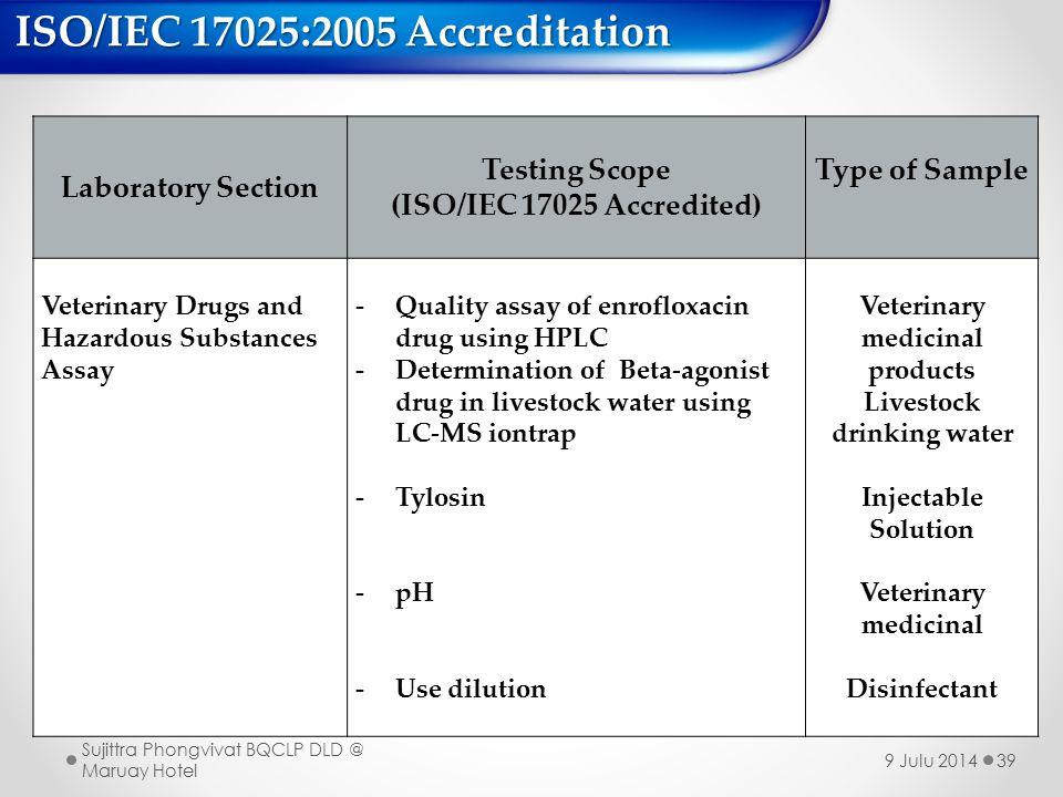 ISO/IEC 17025:2005 Accreditation