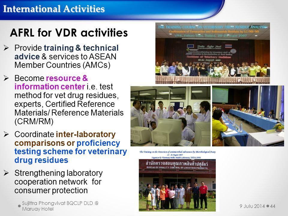 AFRL for VDR activities