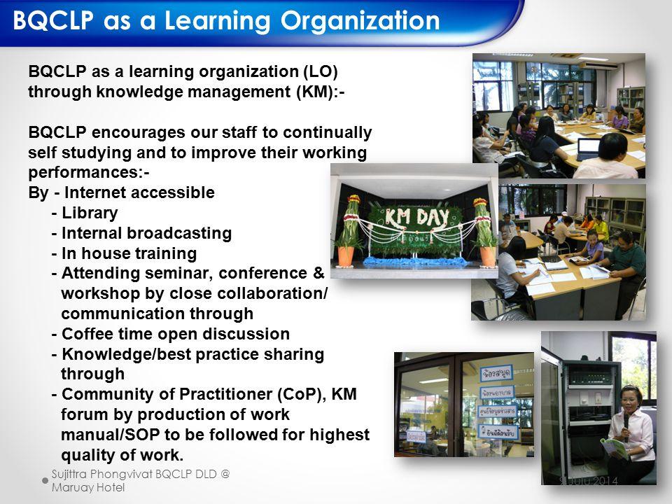 BQCLP as a Learning Organization