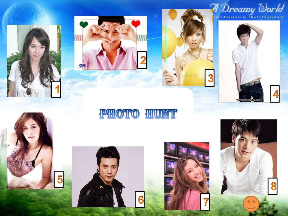 2 3 1 4 Photo Hunt 5 8 6 7