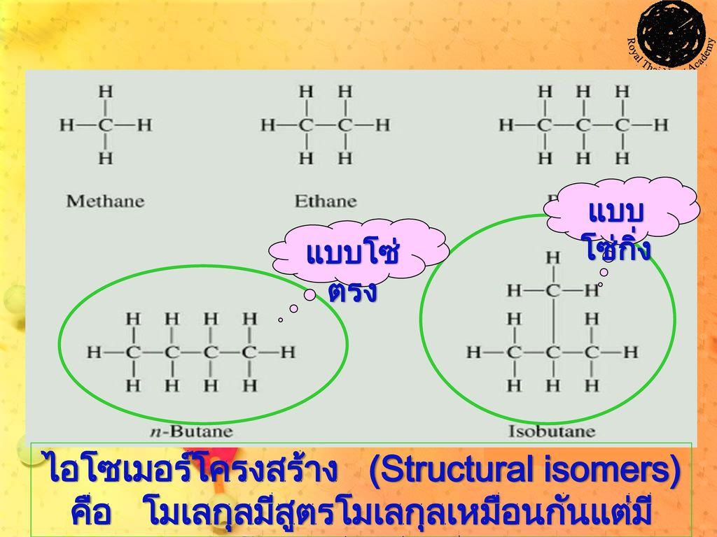 ไอโซเมอร์โครงสร้าง (Structural isomers)